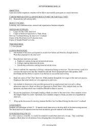 Job Interviewing Skills Lesson Plan Interview Job Interview