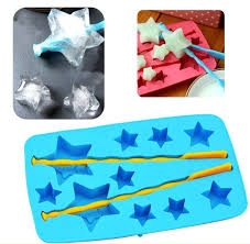 Decorative Ice Cube Trays 100PCS Lucky Star Ice Cube Trays Silicone Baking Mold Chocolate Maker 13