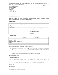 13 Authority Letter Format In Word Formal Buisness Letter