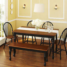 IoHomes 7pc Country Style Dining Table Set WoodVintage White And Country Style Table And Chairs