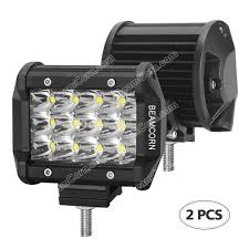 High Intensity Backup Lights Beamcorn 2pcs 4 Inch 36w Led Light Bar Triple Row Spotlight