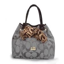 Coach North South Scarf Large Grey Totes 20689