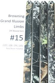 Factory Replacement 15 Limbs For Browning Grand Illusion Compound Bow Biased Deflection Set 4x