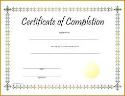 diploma word template certificate of completion template free certificate of completion