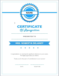 Certificate Of Recognition Template Free Download Employee Recognition Certificates Free Download Printable Template