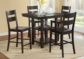 get ations 1perfectchoice studio city 5 pcs counter height dining set table 2 shelf base wooden seat chair