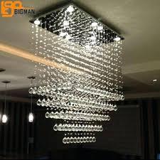 modern rectangular chandelier crystal light living room lighting length linear island dining