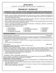 Broadcast Journalist Resume Sample Template