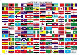 Flag Chart With Names Flags Of The World Wall Chart Flags Of The World Flags