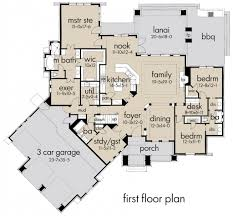 Craftsman Style House Plan  3 Beds 300 Baths 2847 SqFt Plan House Palns