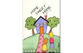 New Home Cartoon Images Funny House Card Happy Home Sweet Home Handcrafted Blank Greeting Card 14 Home
