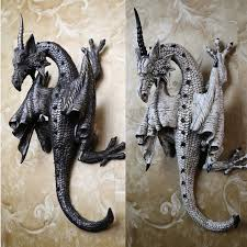 wall decor dragon hanging art sculpture home carved head thai hand ornament new 1 of 6only 3 available