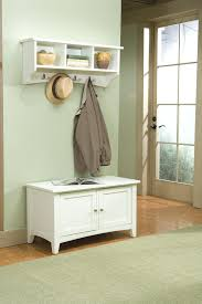 foyer benches with coat racks shaker cottage storage bench and hook in  ivory . foyer benches ...