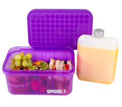 Decor Lunch Boxes PumpedDuo 60 Lunchbox 6060L with 60ml Drink Flask Decor 2