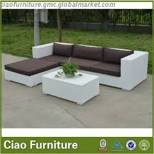 2017 new design white rattan outdoor sofa sets