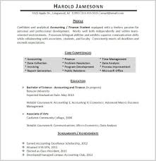 Simply Accounting Student Resume Examples Collection Of Resume