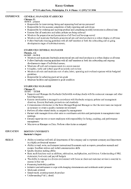 Starbucks Resume Sample Starbucks Manager Resume Samples Velvet Jobs 6