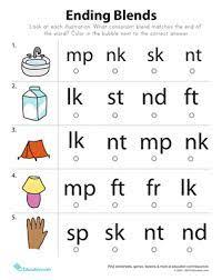 Download all our blends worksheets for teachers, parents, and kids. End Blends Worksheet Education Com