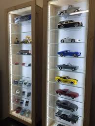 model cars display cabinets with led lights glass shelves dust free