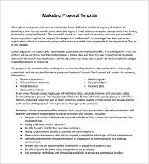 Proposal For Marketing Services Template Xaoufeiya Com
