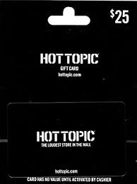 Amazon.com: Hot Topic $25 Gift Card: Gift Cards