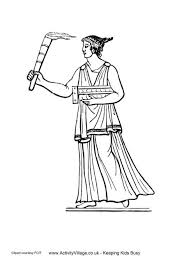Small Picture Ancient Greeks Torch Colouring Page