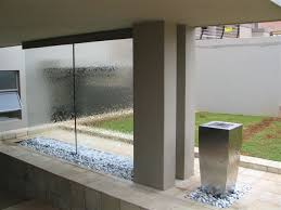 water wall outdoor feature