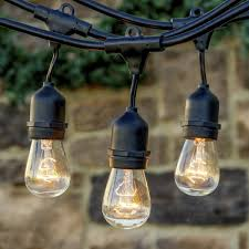 com string lights 33 ft waterproof indoor outdoor connectable lights festoon lighting hanging vintage globe lights pendant with 9 e27 sockets for