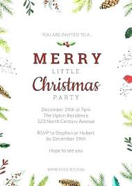 Office Invitation Templates Party Free Christmas Template