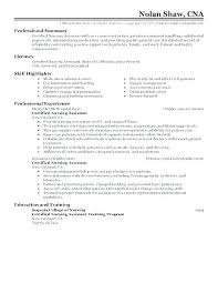 Writing A Resume Examples Delectable Cna Sample Resume Examples Samples With No Experience Example