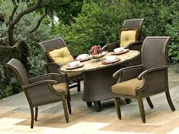 lawn table and chairs popular dining room furniture solid wood round outdoor table set plank dark