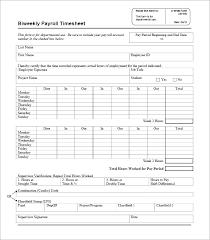 Biweekly Timesheet Template Free Weekly Simple Timesheet Template Free Honeymoonisland Info