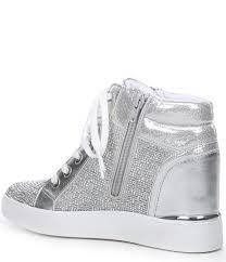 Designer Wedge Sneakers On Sale Ailanna Jewel Embellished Wedge Sneakers