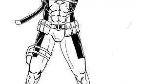 New Deadpool Coloring Pages Immortal Heroes Free Coloring Book