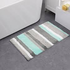 vibrant microfiber washable bath rug mat non slip shower rug 20 x33 light green
