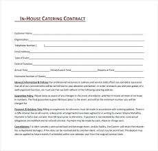 Example Of Catering Contract Catering Agreement Template