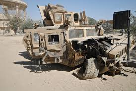 a humvee from the 630th mp pany destro by an ied while responding to an