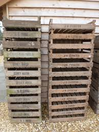 lot 179 a collection of twenty four vintage wooden potato seed trays