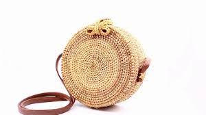 Handmade Round Woven Rattan Bag– LoomRack