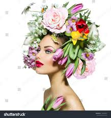 Flower Hair Style beauty spring girl flowers hair style stock photo 178303847 7170 by wearticles.com