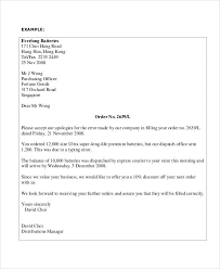 Customer Apology Letter Examples Beauteous 48 Apology Letter Examples PDF Word Pages Sample Templates