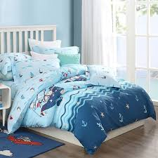 naby blue white red and aqua pirate sailboat anchor whale starfish print ocean nautical themed kids twin full queen size bedding sets