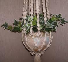 Macrame Plant Hanger, Cream Cord, Hang A Plant, FREE SHIPPING via Etsy