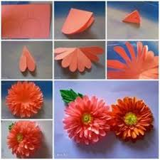 How To Make A Beautiful Flower With Paper 40 Best Paper Craft Images Fabric Flowers Crafts Flower Decoration