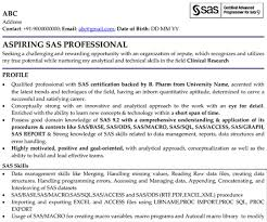 Statistical Programmer Sample Resume Cool SAS Professional Professional Resume Samples