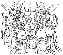 Small Picture Celebrate Commerating of Holy Spirit in Pentecost Coloring Page