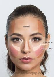 map out where to put on concealer foundation and translucent powder for the best photo ready makeup