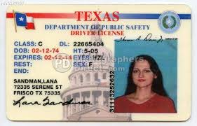 License Stock Pd Drivers Texas Usa Photo State