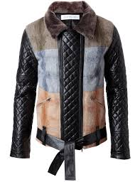 leather and wool jacket winter james long