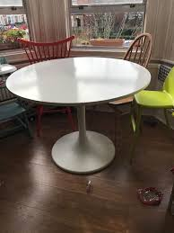 docksta table saarinen table dimensions round tulip dining table